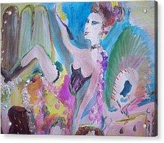 Shabby Chic The Dancer Acrylic Print by Judith Desrosiers