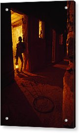 Shackles In Cell On Goree Island Recall Acrylic Print by Gordon Gahan
