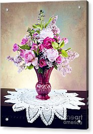 Acrylic Print featuring the photograph Shades Of Pink by Cheryl Davis