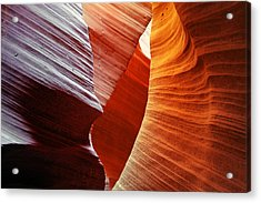 Shades Of Red - Antelope Canyon Az Acrylic Print by Christine Till