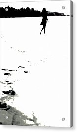 Shadow Footprints Of My Past Acrylic Print by Jenny Rainbow