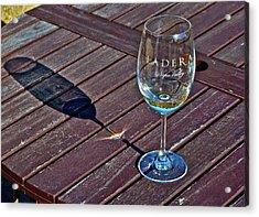 Shadow Glass Acrylic Print by Lori Leigh