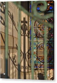 Acrylic Print featuring the photograph Shadow Of The Cross by Cheri Randolph