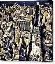 Shadow Of The Empire State Building - New York City Acrylic Print