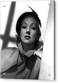 Shadow On The Wall, Ann Sothern, 1950 Acrylic Print by Everett