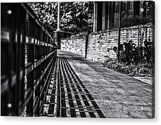 Acrylic Print featuring the photograph Shadow Walk by Tom Gort