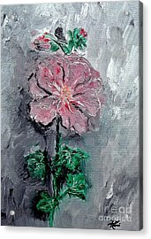 Acrylic Print featuring the painting Shadowed Petals by Ayasha Loya