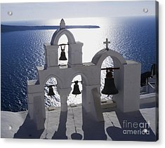 Acrylic Print featuring the photograph Shadows Of Santorini by Leslie Leda