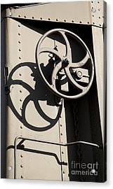 Shadows Of The Train Acrylic Print by Leslie Leda