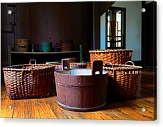 Shaker Baskets Acrylic Print by Lone Dakota Photography