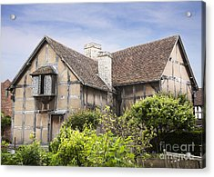 Shakespeare's Birthplace. Acrylic Print by Jane Rix