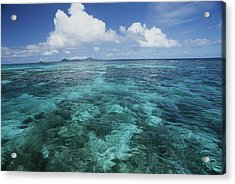 Shallow Blue Water Stretches Acrylic Print by Michael Melford