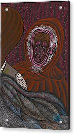 Shamsiel And The Little Father Acrylic Print by Al Goldfarb