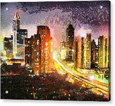Shanghai Acrylic Print by Anthony Caruso