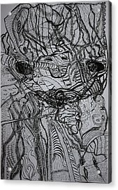 Acrylic Print featuring the drawing Shango by Gloria Ssali
