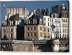 Shapes In Paris Acrylic Print by John Rizzuto
