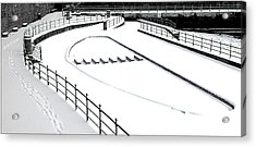 Shapes In The Snow Acrylic Print by Barry Hayton