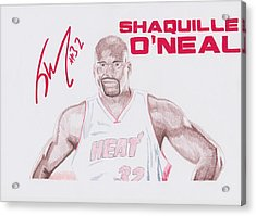 Shaquille O'neal Acrylic Print by Toni Jaso