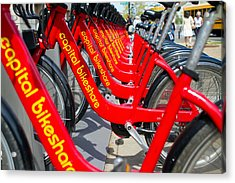 Shared Bikes Acrylic Print by Dan Wells