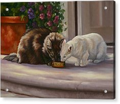 Sharing Acrylic Print by Kathleen  Hill