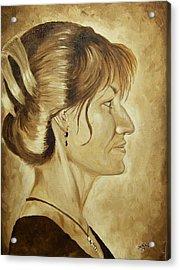 Sharon Acrylic Print by Robert Fenwick May Jr
