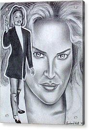 Sharon Stone Acrylic Print by Rick Hill