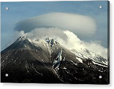 Acrylic Print featuring the digital art Shasta Lenticular 2 by Holly Ethan