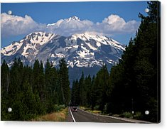 Shasta On The Road Again Acrylic Print by BuffaloWorks Photography