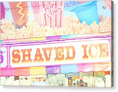 Shaved Ice Acrylic Print by Amy Tyler