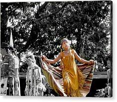 Shawl Dancer Acrylic Print by Cathy Brown