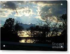 Shawnee Mission Park Sunset  Acrylic Print