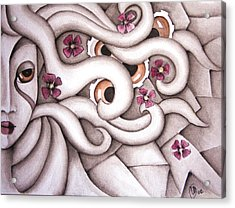 She Listened At Last Acrylic Print by Simona  Mereu