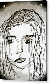She Sat Alone Acrylic Print by Angelina Vick
