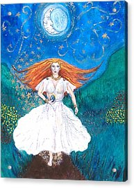She Walks In Beauty Acrylic Print by Janice T Keller-Kimball