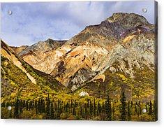 Sheep Mountain Along Glenn Highway Acrylic Print by Yves Marcoux
