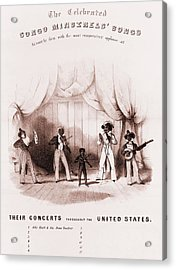 Sheet Music Of The Congo Minstrels, An Acrylic Print by Everett