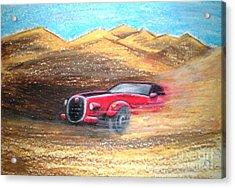 Sheikhs Dirt Racer Acrylic Print by C Ballal