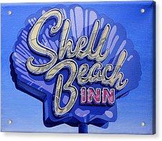 Shell Beach Inn Acrylic Print by Jeff Taylor