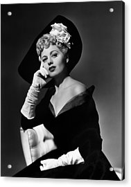 Shelley Winters, 1949 Acrylic Print by Everett
