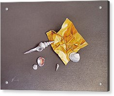 Shells Of The Day Acrylic Print by Elena Kolotusha