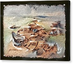 Shellscape 1982 Acrylic Print by Glenn Bautista