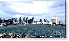 Shelter Island Ca View Acrylic Print by RJ Aguilar