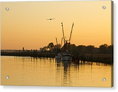 Acrylic Print featuring the photograph Shem Creek by Carrie Cranwill