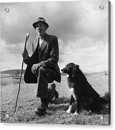 Shepherd Acrylic Print by Bert Hardy
