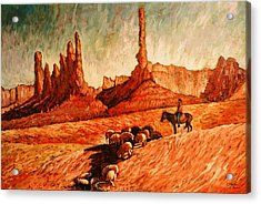 Acrylic Print featuring the painting Sheppard by Charles Munn