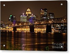 Sherman Minton Bridge Acrylic Print by Joe Finney