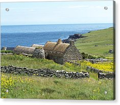 Shetland Croft House Museum Acrylic Print by George Leask