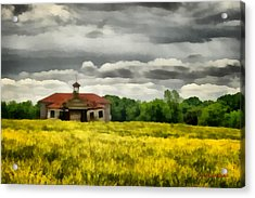 Acrylic Print featuring the painting Shiloh School by Lynne Jenkins