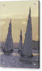 Shilshoe Marina Races 2 Acrylic Print by Arthur Kuntz