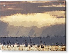 Shilshoe Marina Races 3 Acrylic Print by Arthur Kuntz